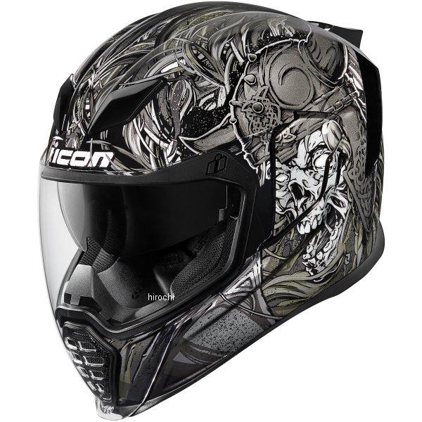 【USA在庫あり】 アイコン ICON フルフェイスヘルメット AIRFLITE KROM 黒 2XLサイズ(63cm-64cm) 0101-10817 JP店