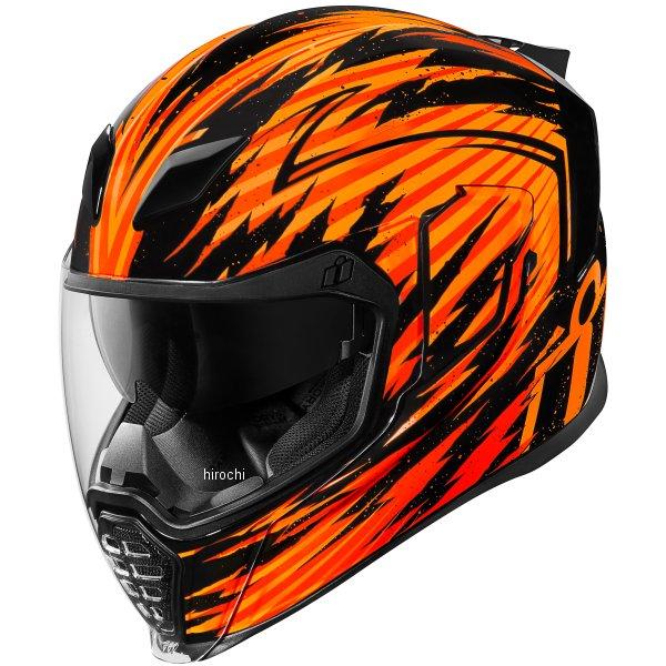 【USA在庫あり】 アイコン ICON フルフェイスヘルメット AIRFLITE FAYDER オレンジ XLサイズ(61cm-62cm) 0101-10837 JP店