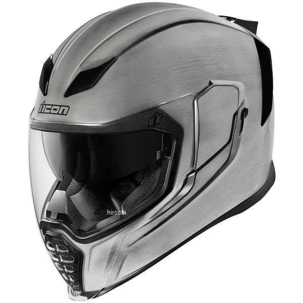 【USA在庫あり】 アイコン ICON フルフェイスヘルメット AIRFLITE QUICKSILVER シルバー Lサイズ(59cm-60cm) 0101-10843 JP店
