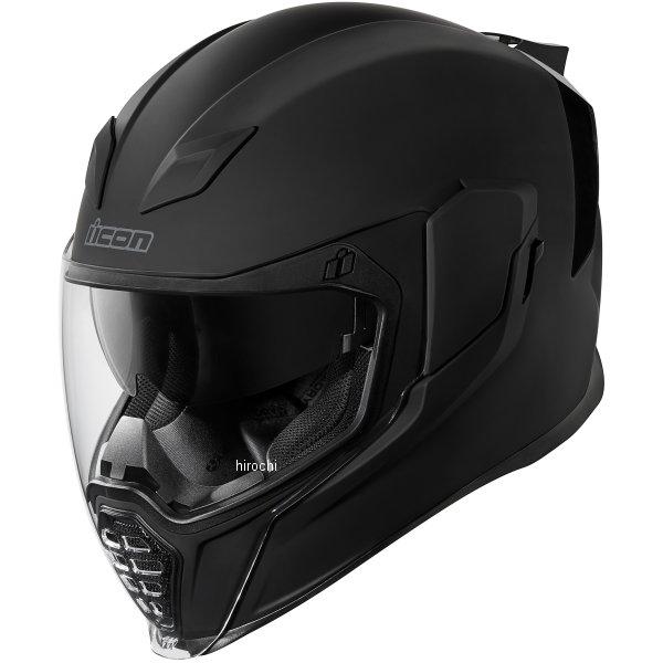 【USA在庫あり】 アイコン ICON フルフェイスヘルメット Airflite Rubatone 黒 3XLサイズ(65cm-66cm) 0101-10853 JP店