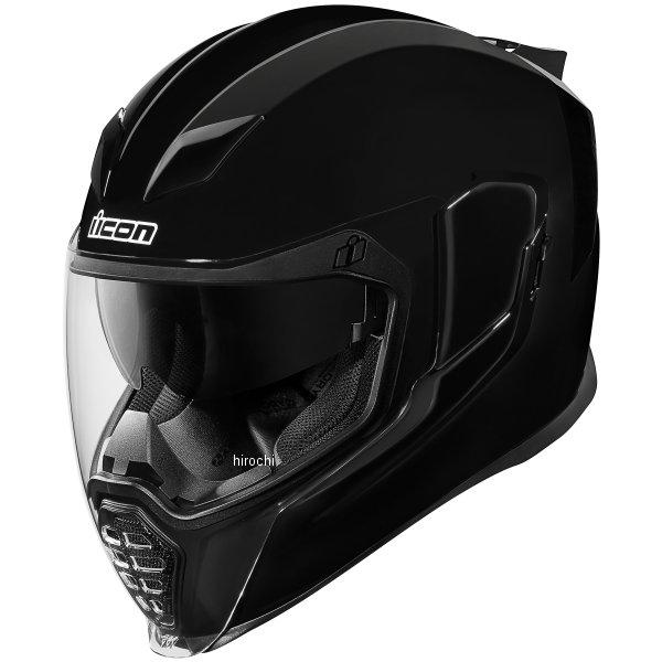 【USA在庫あり】 アイコン ICON フルフェイスヘルメット Airflite Gloss 黒 3XLサイズ(65cm-66cm) 0101-10860 JP店