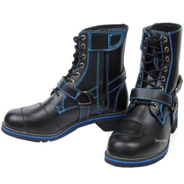 ワイルドウイング WILDWING ライディングブーツ ファルコン フラッグシップモデル 黒/青 25.5cm WWM-0001 JP店
