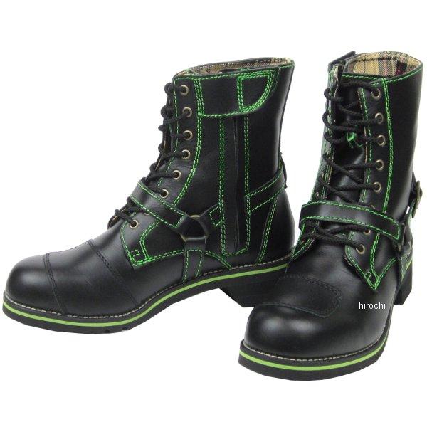 ワイルドウイング WILDWING ライディングブーツ ファルコン フラッグシップモデル 黒/緑 23.5cm WWM-0001 JP店
