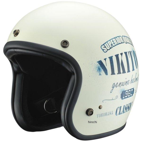【メーカー在庫あり】 ニキトーヘルメット NIKITOR HELMET ステンシル アイボリー/ネイビー 57cm-60cm未満 NHL8-21 JP店
