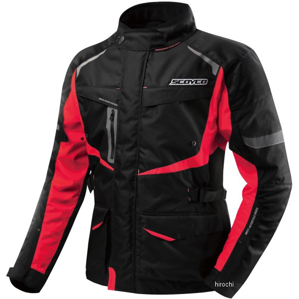 スコイコ SCOYCO FLOW SHADOW ウインタージャケット 赤 3Lサイズ JK42/RD/3L JP店