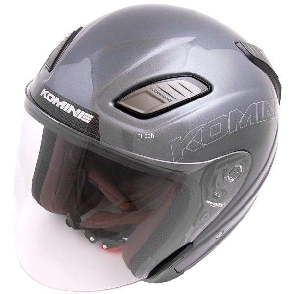 HK-168 コミネ KOMINE ヘルメット プルートX ガンメタル Lサイズ 4560163754210 JP店