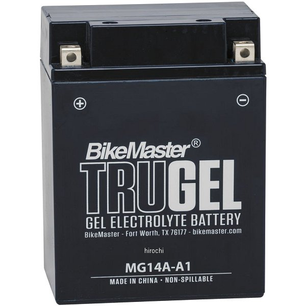 【USA在庫あり】 バイクマスター BikeMaster ゲルバッテリー YB14A-A1互換 780510 JP店