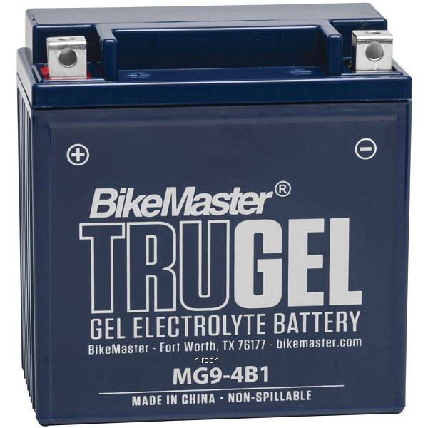 【USA在庫あり】 バイクマスター BikeMaster ゲルバッテリー YB9-B、12N9-4B-1互換 780543 JP店