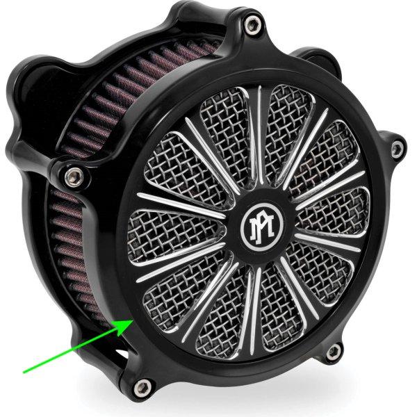 【USA在庫あり】 パフォーマンスマシン インサート エアクリーナー Super Gas用 Revel プラチナカット PM5041 JP店