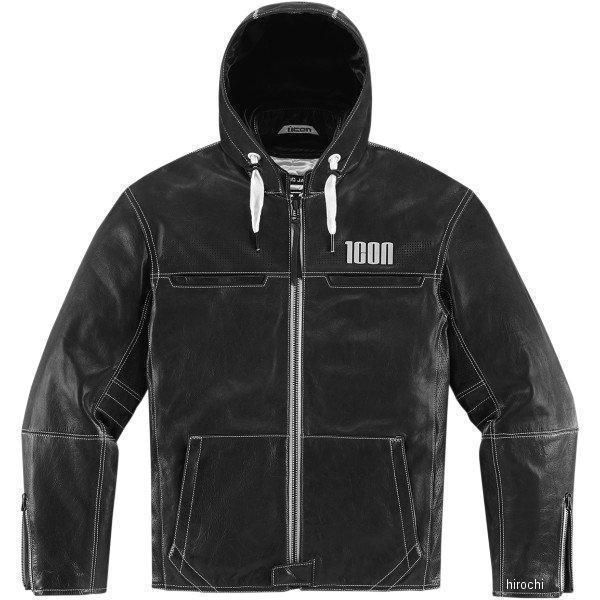 アイコン ICON レザージャケット ICON 1000 HOOD 黒 Sサイズ 2810-2547 JP店