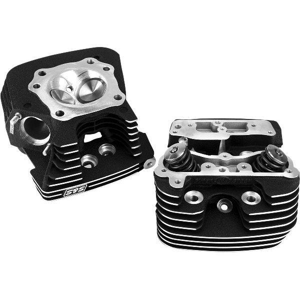 【USA在庫あり】 S&Sサイクル S&S Cycle スーパーストック シリンダーヘッド 89cc 06年-17年 Twin Cam 黒 493099 JP店