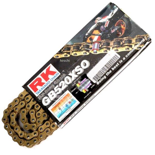【USA在庫あり】 アールケー RK チェーン 520XSO RX-リング ゴールド 120L 180655 JP店