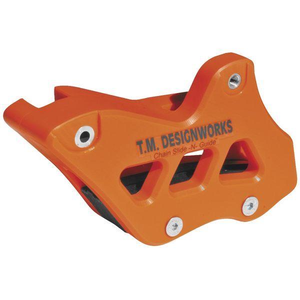 【USA在庫あり】 T.M デザインワークス T.M DESIGNWORKS チェーンガイド リア ファクトリーエディション2 08年-14年 KTM 125 オレンジ 971865 JP店