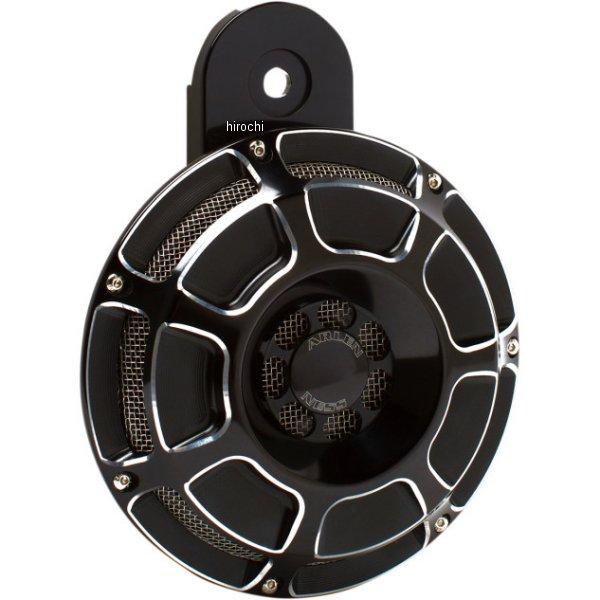 【USA在庫あり】 アレンネス Arlen Ness ビレットホーン 110dB 汎用 ベベル 黒 2107-0161 JP店