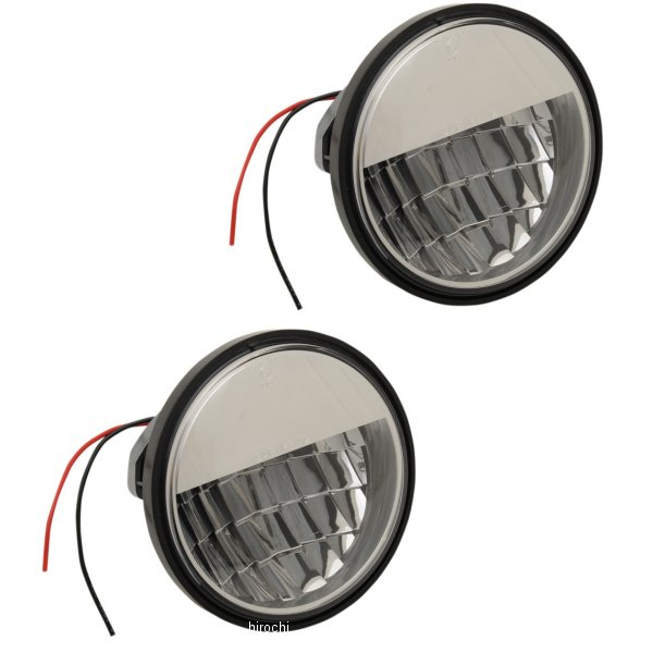 【USA在庫あり】 DRAG LED パッシングランプ 4.5インチ リフレクタースタイル クローム (左右ペア) 2001-1336 JP店