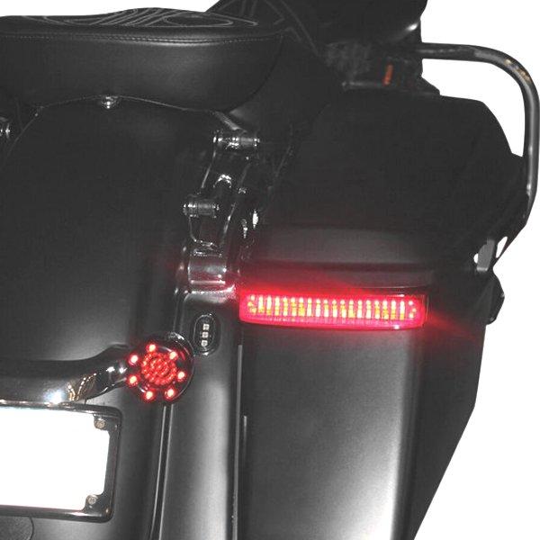 【USA在庫あり】 カスタム ダイナミクス LEDサドルバッグライト 14年以降 FLHT 黒/赤レンズ 2040-1982 JP店