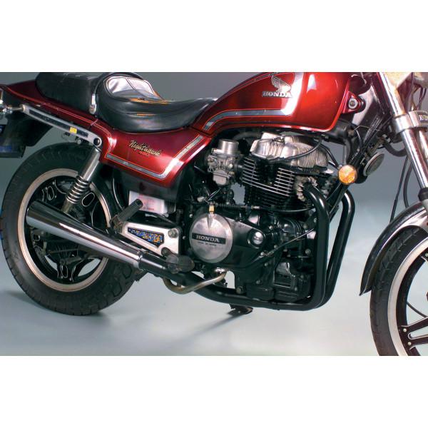【USA在庫あり】 マック MAC Performance フルエキゾースト 2-INTO-1 78年-86年 CB450、CM450、CN400 黒 801-0503 JP