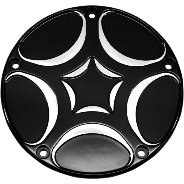 【USA在庫あり】 カールブロウハード Carl Brouhard Designs ダービーカバー スパイロ 99年-18年 BigTwin 黒 1107-0503 JP店