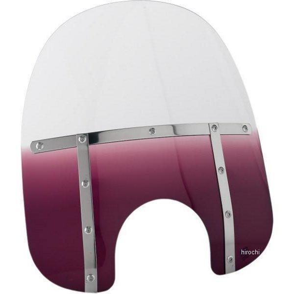 【USA在庫あり】 メンフィスシェード Memphis Shades ウインドシールド ファット 19インチ高/ライト幅9インチ FLHR 紫 MEM3714 JP店