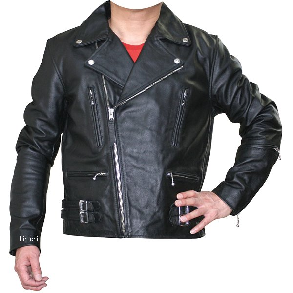 モトフィールド MOTO FIELD 秋冬モデル ダブルライダースレザージャケット 黒 5Lサイズ MF-LJ128K JP店