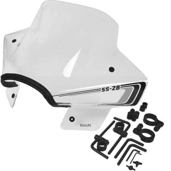 【USA在庫あり】 スリップ ストリーマー Slip Streamer ウインドシールド スポーツフェアリング 15インチ高 汎用 クリア SS28 JP店