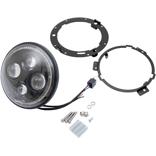 【USA在庫あり】 クリアキン Kuryakyn LED ヘッドライト 7インチ ハロー オービットビジョン 412356 JP店