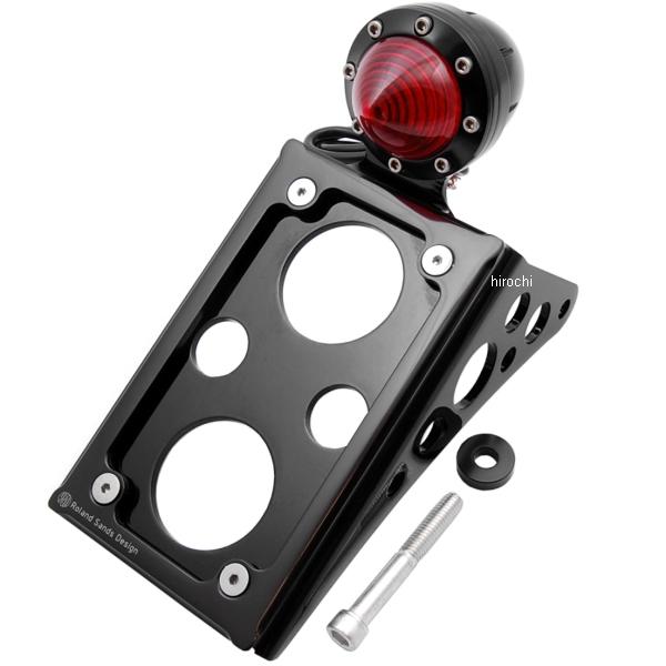 【USA在庫あり】 ローランドサンズデザイン RSD LEDテールランプ付ナンバープレート 縦マウント ソフテイル 黒つや有り RD3535 JP店