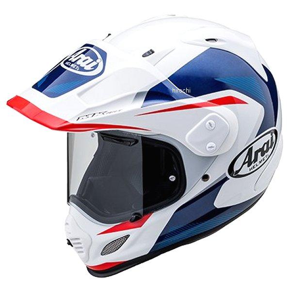 山城×アライ ヘルメット ツアークロス3 ブレイク 白/青 Mサイズ (57cm-58cm) 4530935528127 JP店