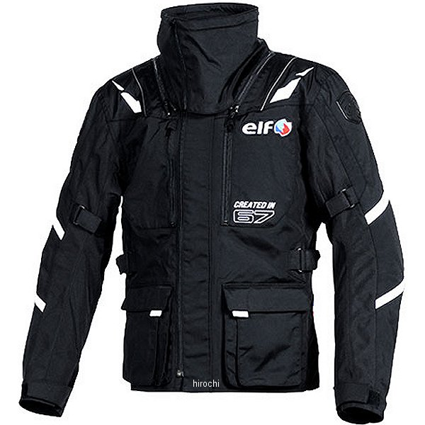 エルフ elf 秋冬モデル ストレッチナイロンブルゾン 黒 LLサイズ EL-8244 JP店