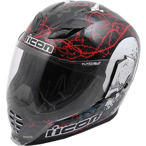 【USA在庫あり】 アイコン ICON フルフェイスヘルメット Airflite Skull-18 黒 Lサイズ(59cm-60cm) 0101-11200 JP店