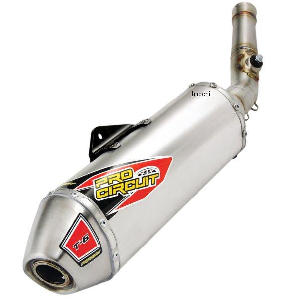 【USA在庫あり】 プロサーキット Pro Circuit スリップオンマフラー T-6 09年-15年 KX450F ステンレス 1821-1605 JP店