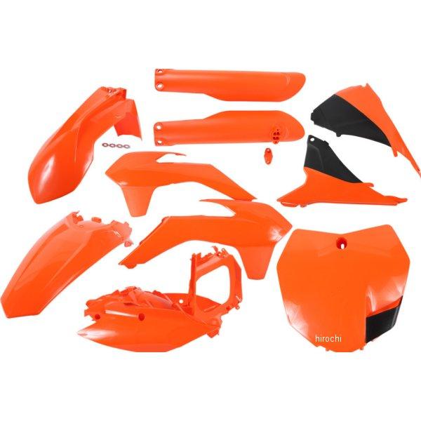 【USA在庫あり】 アチェルビス ACERBIS 外装キット フルセット 15年 KTM 250SX オレンジ/黒 730073 JP店