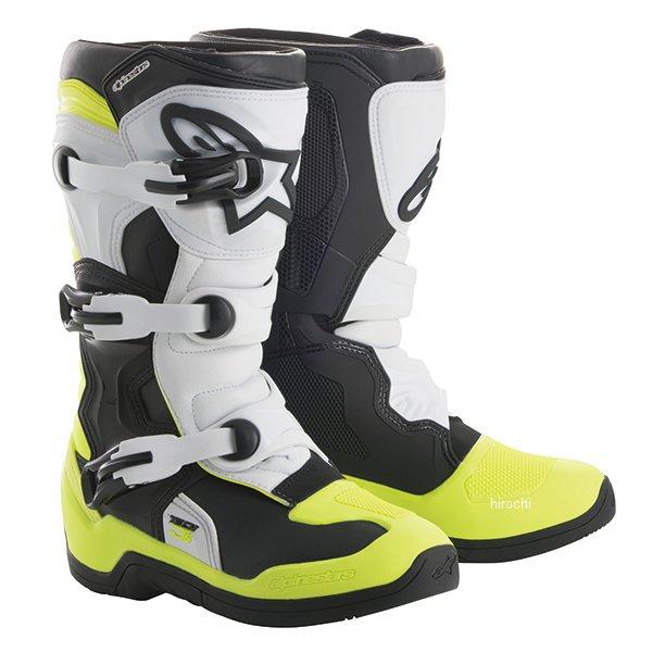 アルパインスターズ ブーツ テック3S ユース用 黒/白/蛍光黄 2サイズ 21.5cm 2014018-125-2 JP店