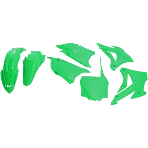 【USA在庫あり】 ユーフォープラスト UFO PLAST 外装キット 14年以降 KX85 蛍光緑 1403-2309 JP店