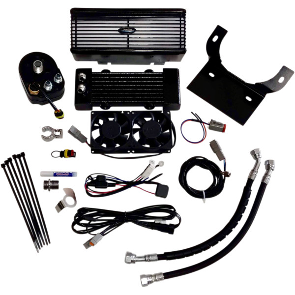 【USA在庫あり】 ウルトラクール ULTRACOOL OIL COOLER KIT FLH BLACK 0713-0147 JP店