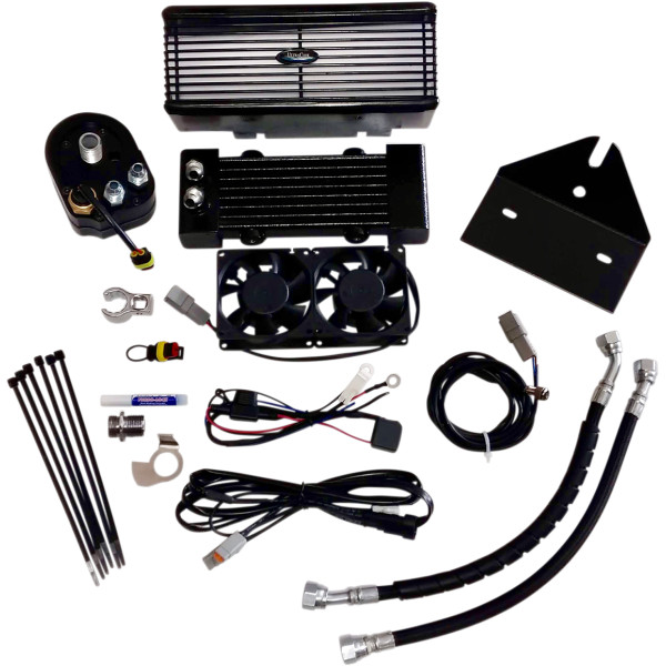【USA在庫あり】 ウルトラクール ULTRACOOL OIL COOLER KIT DYNA BLACK 0713-0153 JP店