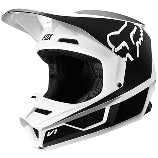 【メーカー在庫あり】 フォックス FOX オフロードヘルメット V1 ユース用 プリズム 黒/白 YMサイズ (49cm-50cm) 20084-018-M JP店