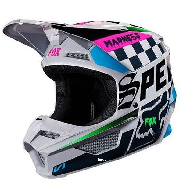 【メーカー在庫あり】 フォックス FOX オフロードヘルメット V1 ユース用 ツァール ライトグレー YMサイズ (49cm-50cm) 21781-097-M JP店