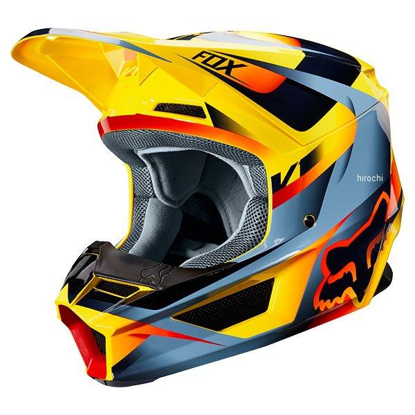 【メーカー在庫あり】 フォックス FOX オフロードヘルメット V1 モティーフ 黄 XLサイズ (61cm-62cm) 21775-005-XL JP店