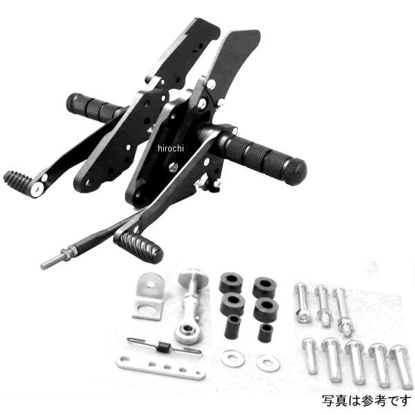ダブルアールズ WR'S バトルステップ 3ポジション 全年式 XJR1300、XJR1200 黒 0-45-WK2101