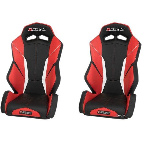 【USA在庫あり】 Beard Seats フロント シート トルク V2 黒/赤 左右ペア 0812-0093 JP店