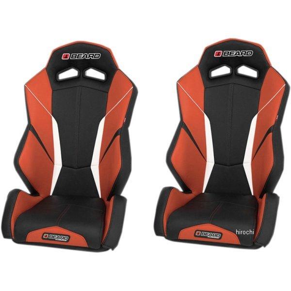 【USA在庫あり】 Beard Seats フロント シート トルク V2 黒/オレンジ 左右ペア 0812-0096 JP店