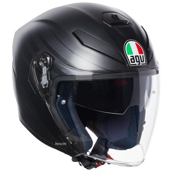 【メーカー在庫あり】 113192G0-008-S エージーブイ AGV ジェットヘルメット K5 JET JIST MULTI ORBITER アジアフィット 黒/グレー Sサイズ(55-56cm) 113192G0008-S JP店