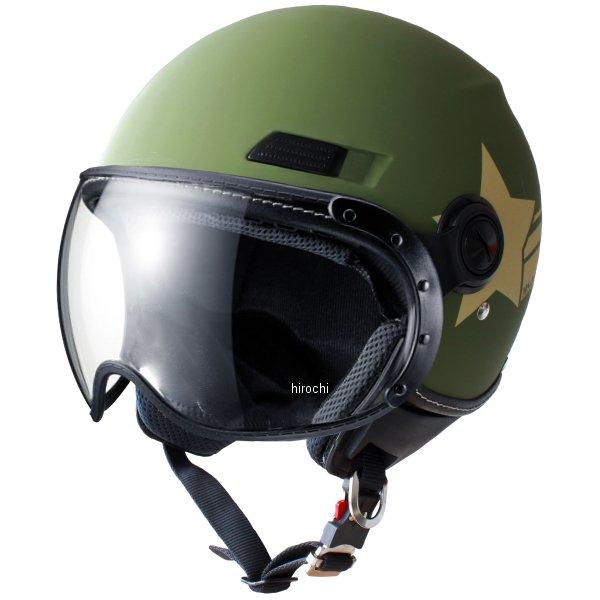 マルシン工業 Marushin ジェットヘルメット MS-340 アーミースター カーキー Lサイズ MS34017L JP店