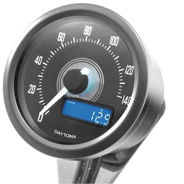 【メーカー在庫あり】 デイトナ ヴェローナ スピードメーター 140km/h 黒/白 LED 92269 JP店