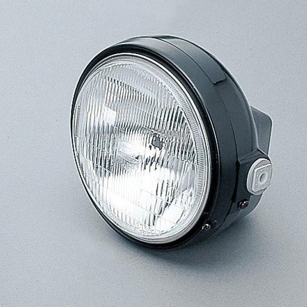 【メーカー在庫あり】 デイトナ ヘッドライトキット Mサイズ(レンズ径φ153) 黒/黒 H4 22714 JP店
