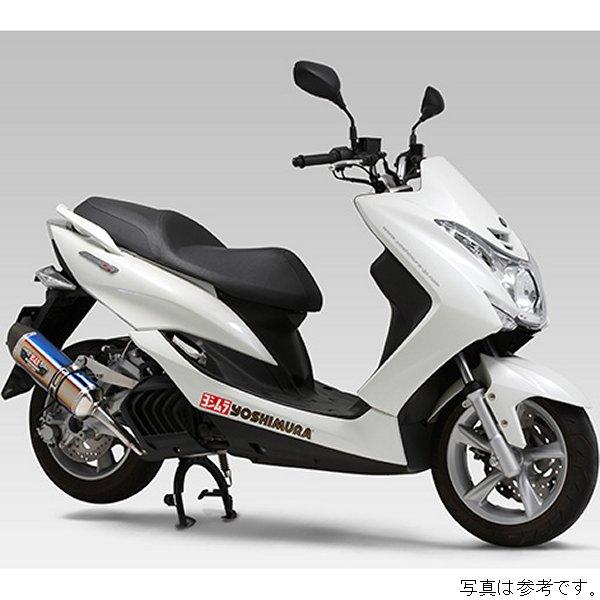 ヨシムラ フルエキゾースト R-77S 機械曲サイクロン EXPORT SPEC 14年-18年 マジェスティS チタンブルー/カーボン 110-364-5181B JP店