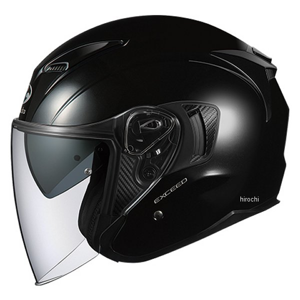 オージーケーカブト OGK KABUT ジェットヘルメット EXCEED ブラックメタリック Lサイズ 4966094576899 JP店