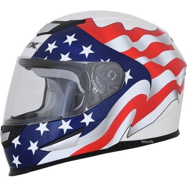 【USA在庫あり】 AFX フルフェイスヘルメット FX-99 パールホワイトフラッグ Lサイズ (59cm-60cm) 0101-11363 JP店