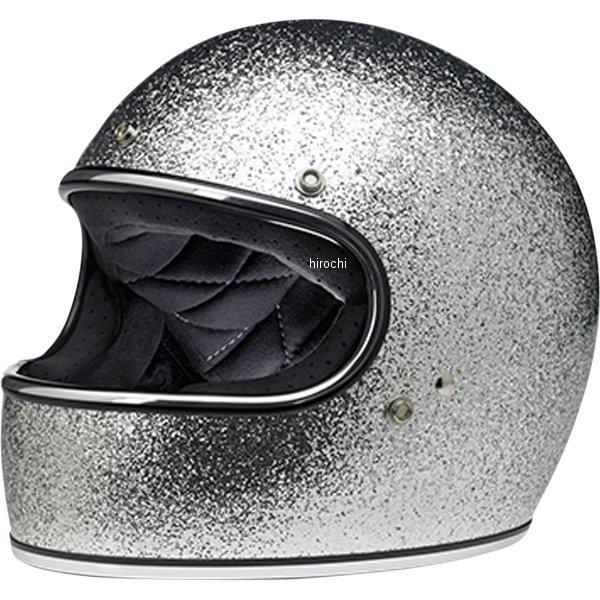 【USA在庫あり】 ビルトウェル Biltwell フルフェイスヘルメット Gringo シルバーメガフレーク MD 0101-11434 JP店